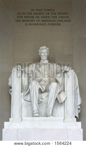 The Statue Of Abraham Lincoln