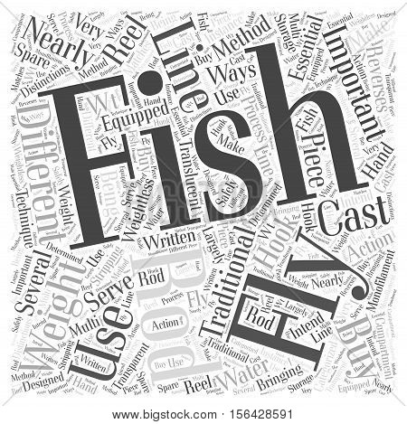 Which Fly Fishing Rod Should You Buy word cloud concept text background