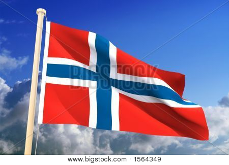 Bandera de Noruega (Clipping Path)