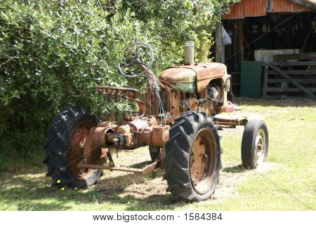 abandoned tractor