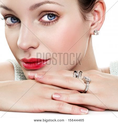 Beautiful woman with jewelry