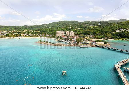 Ocho Rios in Jamaica during bright day
