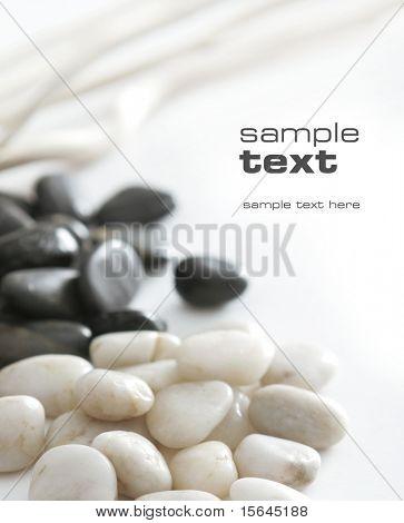 schwarz & weiße Steine