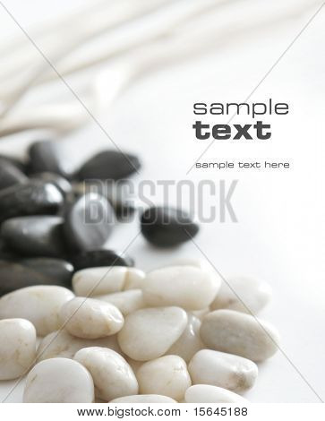 black & white stones