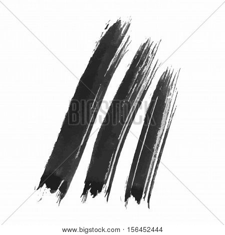 Grunge Vector Distressed Modern Textured Brush Stroke Dry