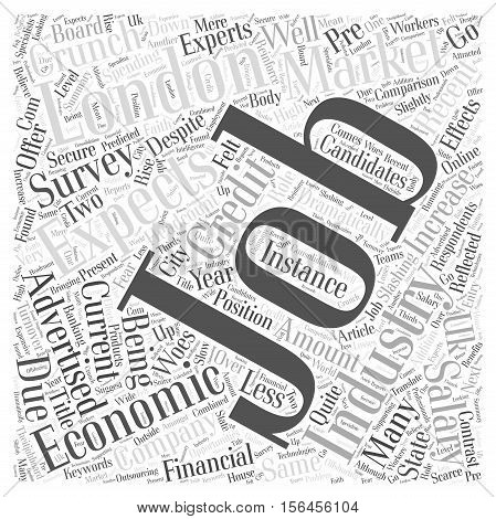 How has the credit crunch effected the IT industry word cloud concept