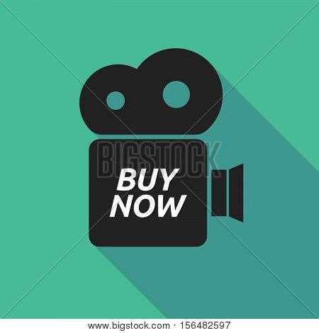 Long Shadow Camera Icon With    The Text Buy Now