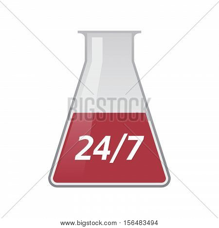Isolated Test Tube With    The Text 24/7