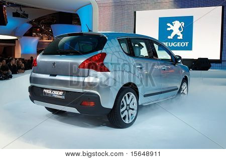 PARIS, FRANCE - OCTOBER 02: Paris Motor Show  on October 02, 2008, showing Peugeot Prologue Concept car, rear view.