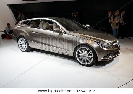 PARIS, FRANCE - OCTOBER 02: Paris Motor Show  on October 02, 2008, showing Mercedes-Benz Fascination Concept, side view.