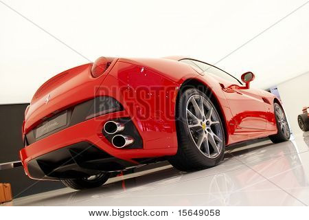 PARIS, FRANCE - OCTOBER 02: Paris Motor Show on October 02, 2008, showing Ferrari California, rear view