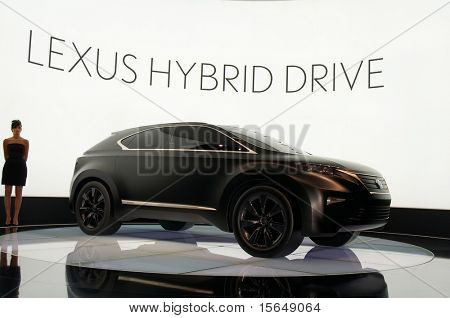 PARIS, FRANCE - OCTOBER 02: Paris Motor Show on October 02, 2008, showing Lexus LF-Xh Concept, front-side view