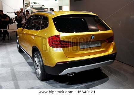 PARIS, FRANCE - OCTOBER 02: Paris Motor Show on October 02, 2008, showing BMW Concept X1, rear view