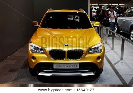 PARIS, FRANCE - OCTOBER 02: Paris Motor Show on October 02, 2008, showing BMW Concept X1, front view