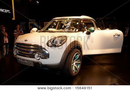 PARIS, FRANCE - OCTOBER 02: Paris Motor Show on October 02, 2008, showing MINI Concept Crossover, front view