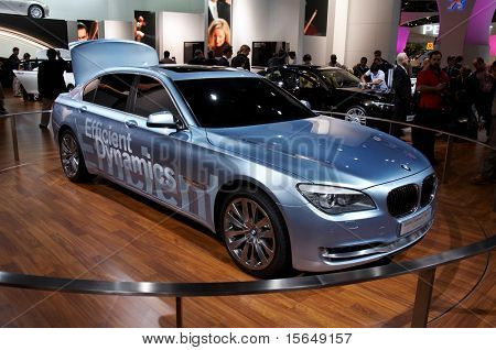 PARIS, FRANCE - OCTOBER 02: Paris Motor Show on October 02, 2008, showing BMW Concept 7 series ActiveHybrid, front view