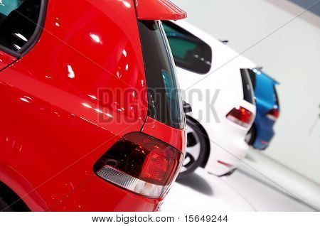 PARIS, FRANCE - OCTOBER 02: Paris Motor Show on October 02, 2008, showing Volkswagen Golf GTI, rear door detail