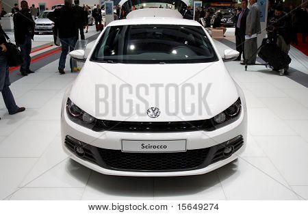 PARIS, FRANCE - OCTOBER 02: Paris Motor Show on October 02, 2008, showing Volkswagen Scirocco, front view