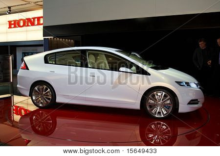 PARIS, FRANCE - OCTOBER 02: Paris Motor Show on October 02, 2008, showing Honda Insight Concept, rear view