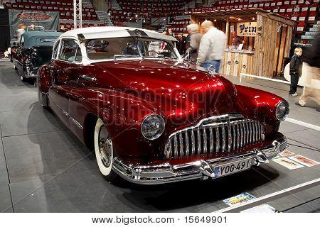 HELSINKI, FINLAND - OCTOBER 3: X-Treme Car Show, showing 1946 Buick Roadmaster Sedan on October 3, 2009 in Helsinki, Finland