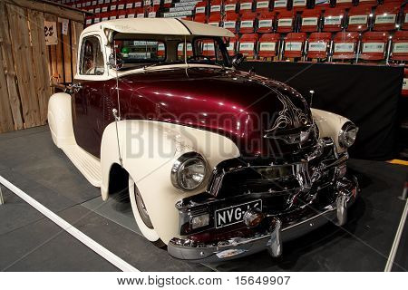 HELSINKI, FINLAND - OCTOBER 3: X-Treme Car Show, showing 1954 Chevrolet Pickup on October 3, 2009 in Helsinki, Finland