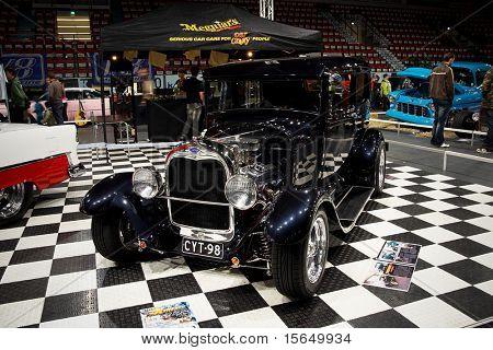 HELSINKI, FINLAND - OCTOBER 3: X-Treme Car Show, showing 1928 Ford Tudor on October 3, 2009 in Helsinki, Finland