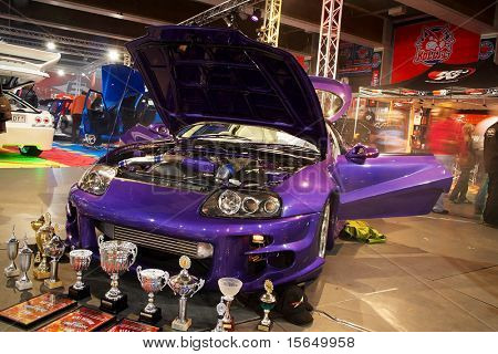 HELSINKI, FINLAND - OCTOBER 3: X-Treme Car Show, showing tuned 1994 Toyota Supra on October 3, 2009 in Helsinki, Finland