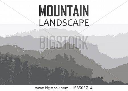 Vector background on the theme of Climbing,  Hiking, Trekking, Mountaineering. Extreme sports, outdoor recreation, adventure in the mountains. Vacation and outdoor recreation Concept