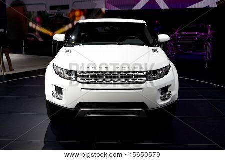 PARIS, FRANCE - SEPTEMBER 30: Paris Motor Show on September 30, 2010 in Paris, showing Range Rover Evoque, front view