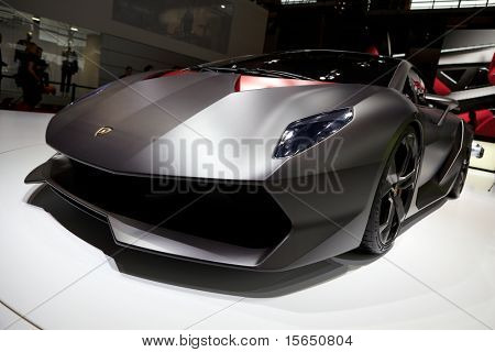 PARIS, FRANCE - SEPTEMBER 30: Lamborghini Sesto Elemento Concept at Paris Motor Show on September 30, 2010 in Paris