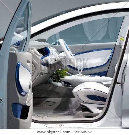 PARIS, FRANCE - SEPTEMBER 30: Paris Motor Show on September 30, 2010 in Paris, showing Renault Zoe Preview, interior view