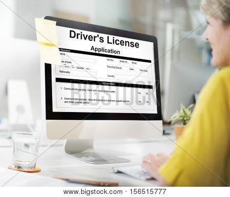 Driver?? License Application Permission Form Concept
