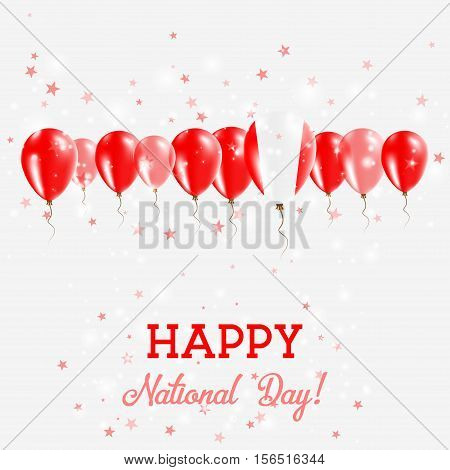 Peru Independence Day Sparkling Patriotic Poster. Happy Independence Day Card With Peru Flags, Confe