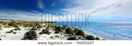 Panoramic Coastline on Sea Lion Island
