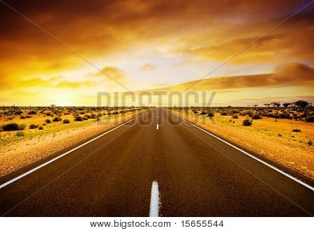 Road through the middle of Australia