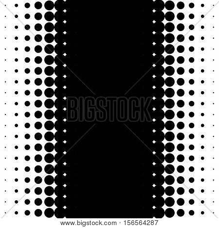 Vertical Half Tone Pattern With Dots - Monochrome Halftone Texture