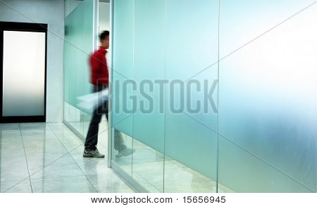 man and corridor