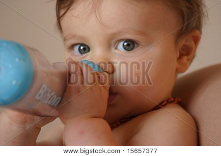 baby whit milk