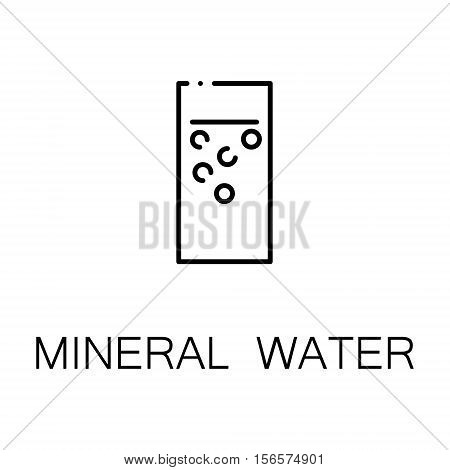 Mineral water flat icon. Single high quality outline symbol of drink for web design or mobile app. Thin line signs of mineral water for design logo, visit card, etc. Outline pictogram of mineral water