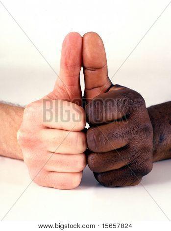 hand, interracial