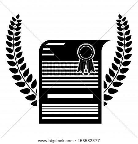 Diploma icon. Graduation university education and school theme. Isolated design. Vector illustration
