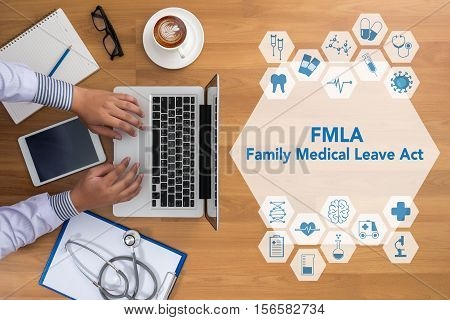 FMLA family medical leave act FMLA blue, cardiologist, care,