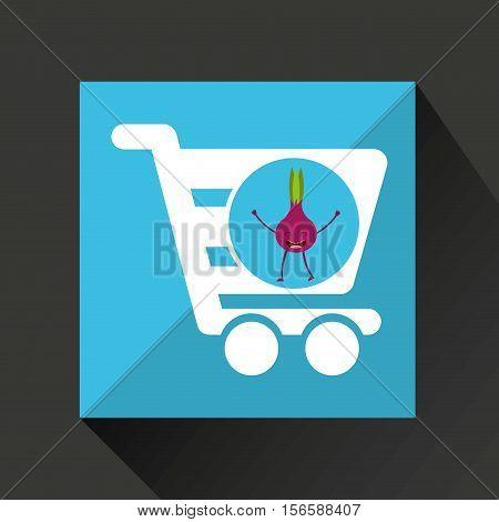 concept market buy fresh beet vector illustration eps 10