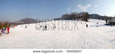 snow and poeple