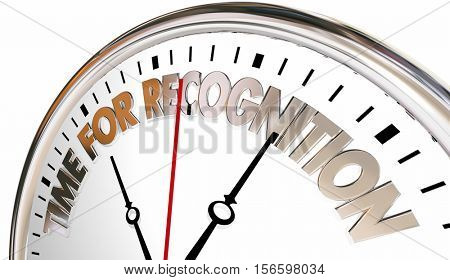 Time for Recognition Appreciation Thank You Clock 3d Illustration