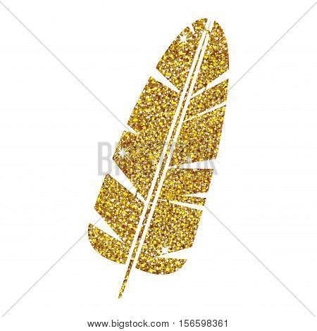 Feather icon. Plume bird decoration and nature theme. Isolated design. Vector illustration