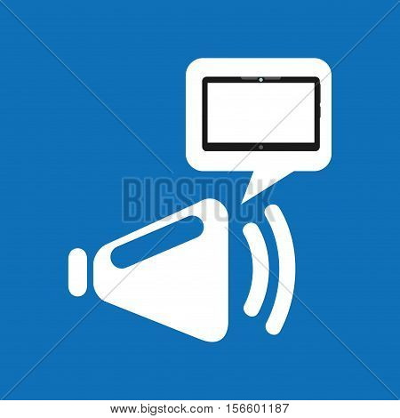 cloud device speaker media apps graphic vector illustration eps 10