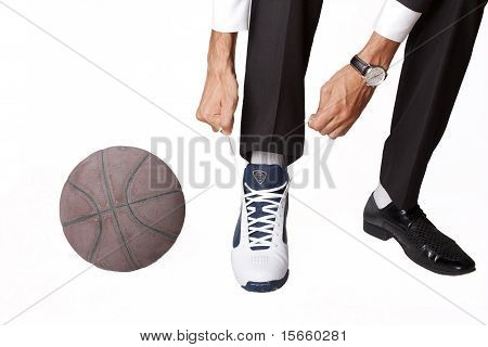 Businessman And Some Basketball Stuff