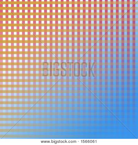 White Orange Redpurple Grid