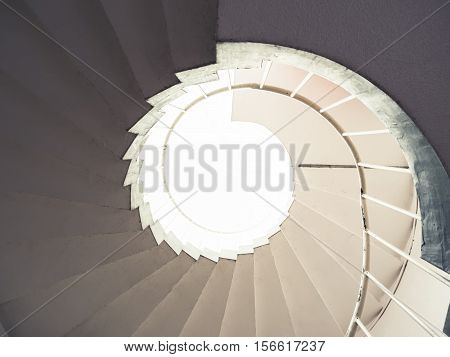 Architecture detail Spiral staircase pattern level Abstract background